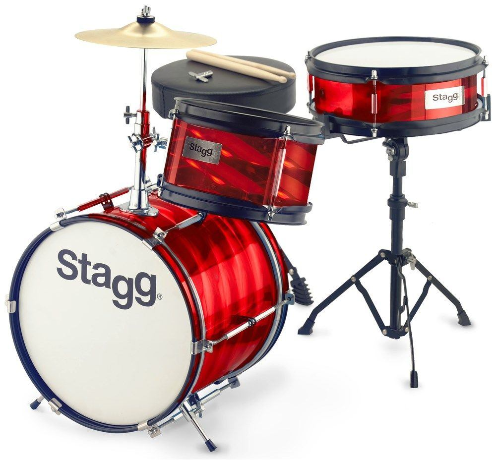 Stagg TIM JR 3/12B Barva: RD (červená)
