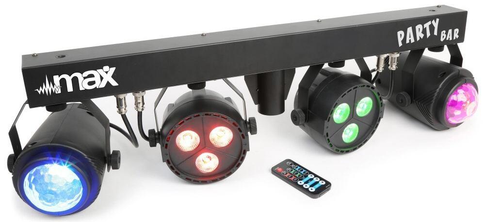 Max Party Bar 2x LED PAR 3x3W QCL