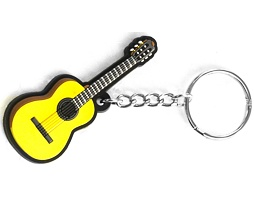 Musician Designer Music Key Chain Classical Guitar