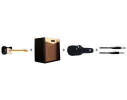 Telecaster s kombem, obalem a kabelem