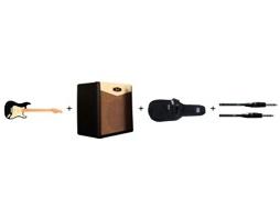 Stratocaster s kombem, obalem a kabelem