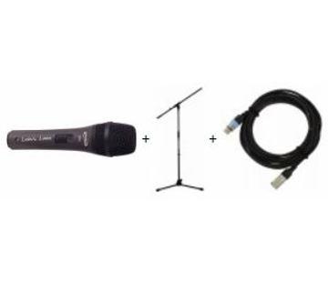 Mikrofon se stojanem a kabelem