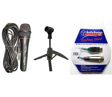 USB mikrofon se stojanem a kabelem